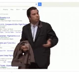 SERP with john travolta screen shot