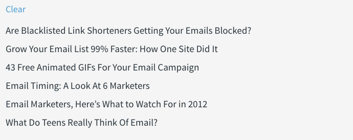 clear email marketing subject line