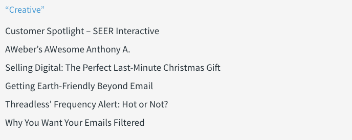 creative email marketing subject line