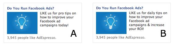 facebook ad test