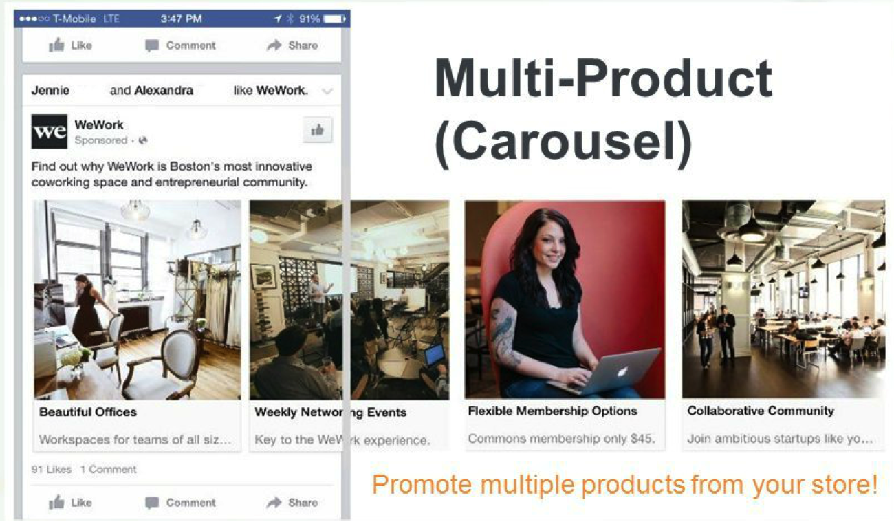 multi product facebook ad