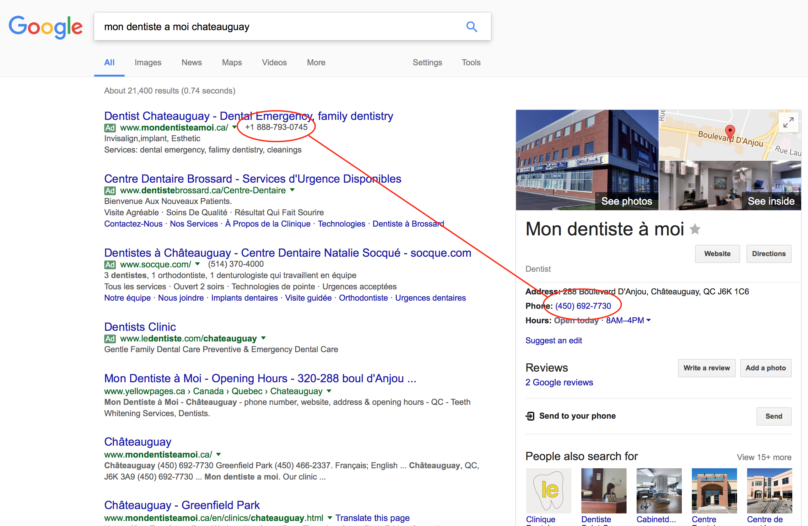 Call Extensions and Google My Business number inconsistencies