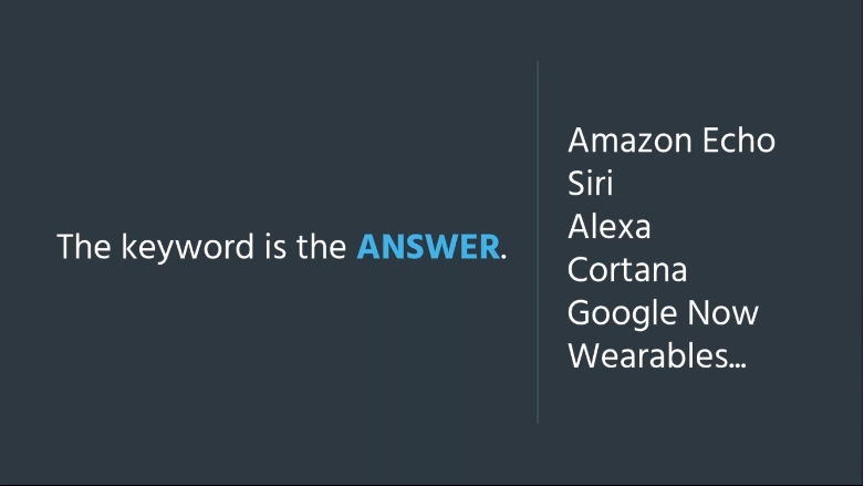 Screenshot from Acquisio voice search webinar