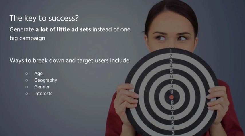 Screenshot of Facebook Advertising Webinar with Acquisio