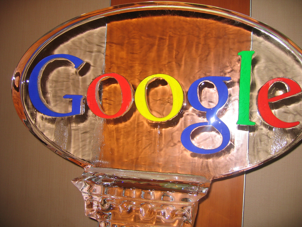 Google ice sculpture at SMX Seattle 2007