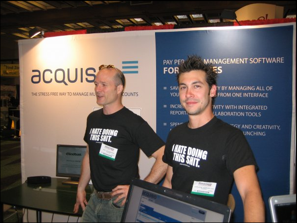 Acquisio at SMX with I Hate Doing This Shit T-Shirts