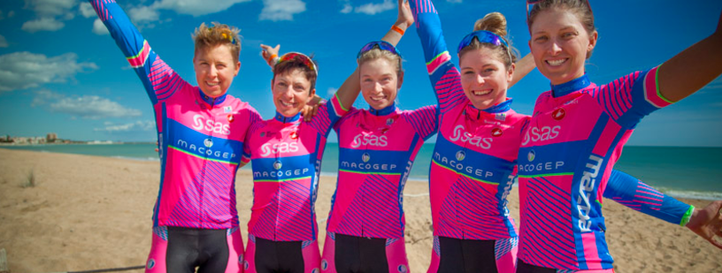 Screenshot of Canada Female Cycling Team from Facebook