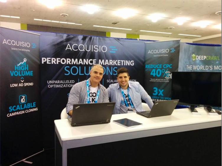 Acquisio sales team at SMX