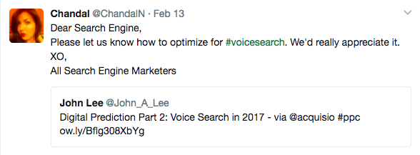 Voice search tweet