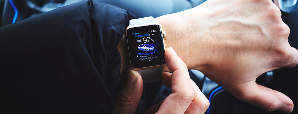 Searching for a car on an Apple watch