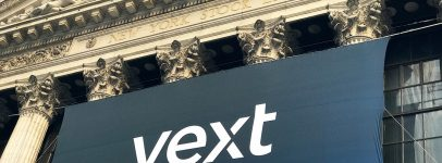 Yext banner on building