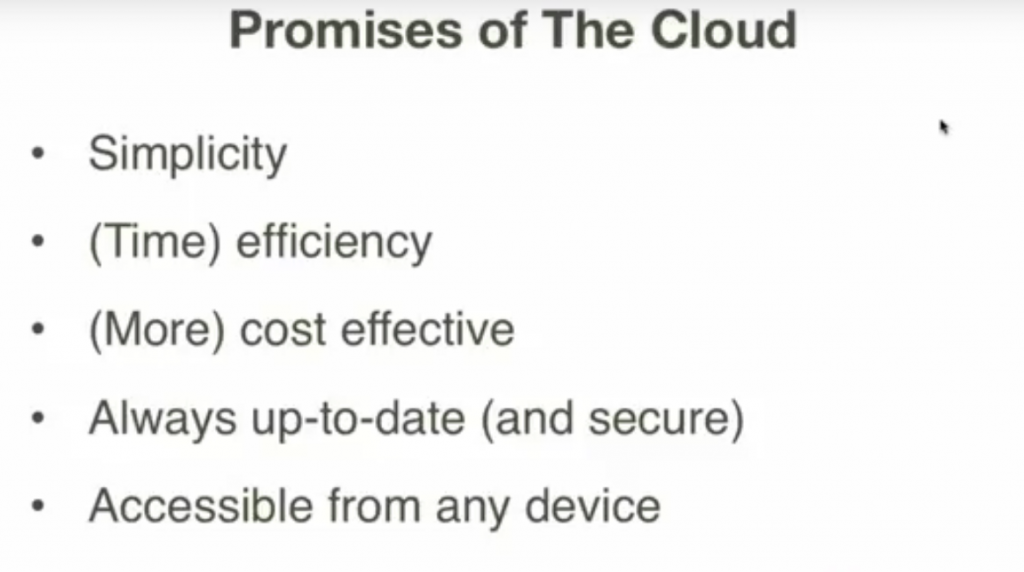 promises of the cloud