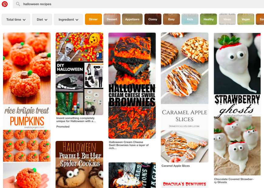 Pinterest halloween recipes search