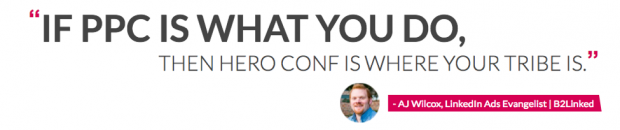 Hero Conf PPC Conference Website Screenshot