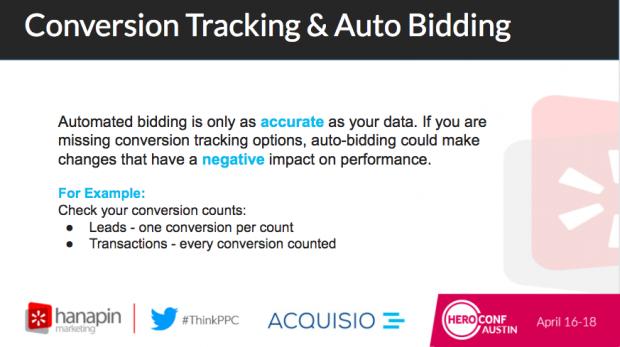 Screenshot of slide from Automated Bidding Versus Manual Bidding Webinar