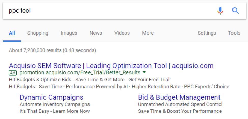 ppc tool serp screenshot