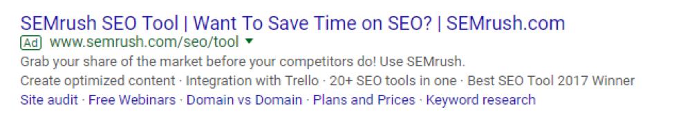semrush ad screenshot