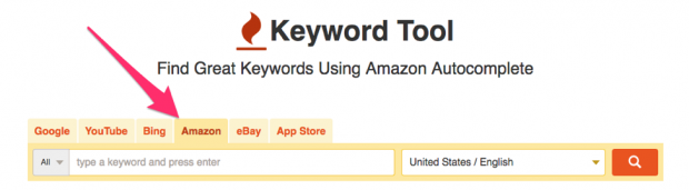 Keyword tool for Amazon research