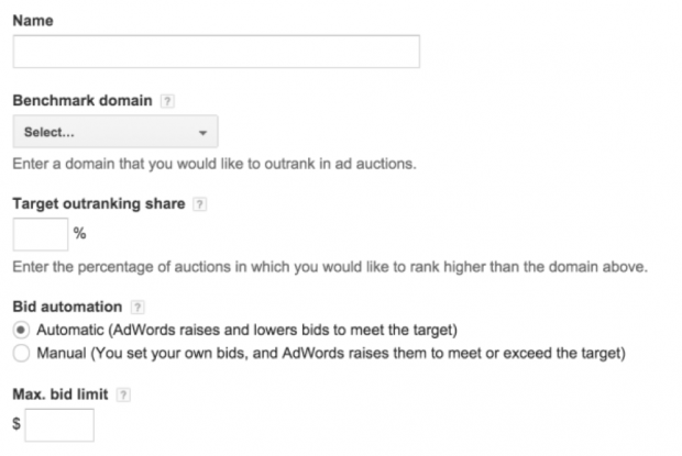 Outrank competitor by percentage function in AdWords
