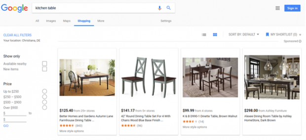 Product Listing Ads Kitchen Table
