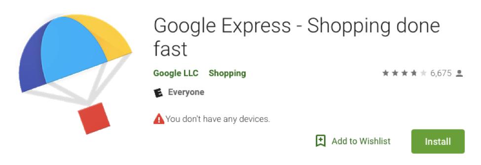 google express screenshot
