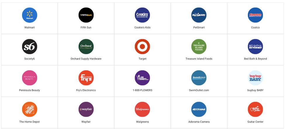express retailers screenshot