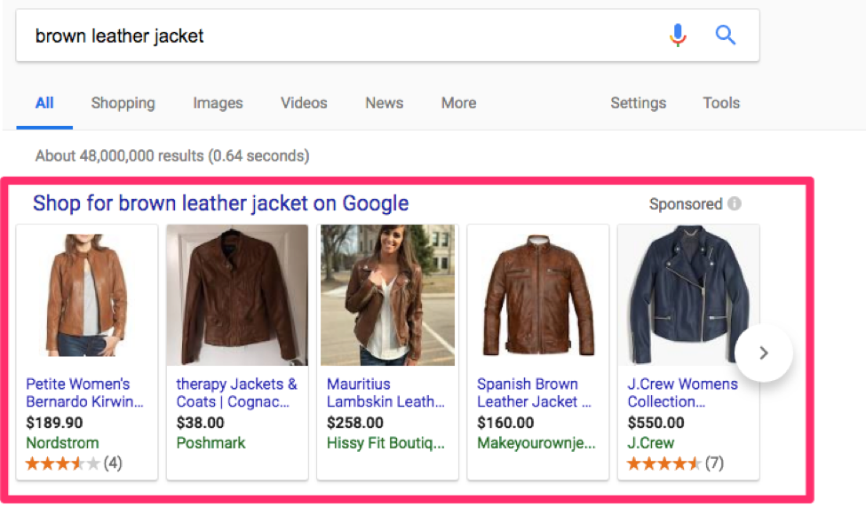 brown leather jacket search