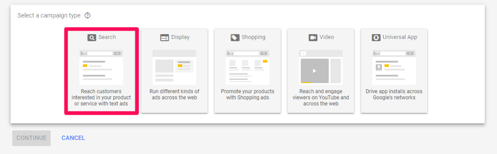adwords dashboard screenshot