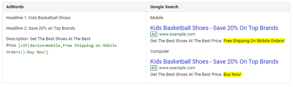 adwords google search screenshot