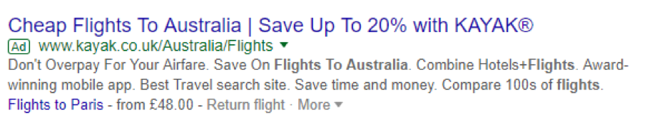 google ad screenshot
