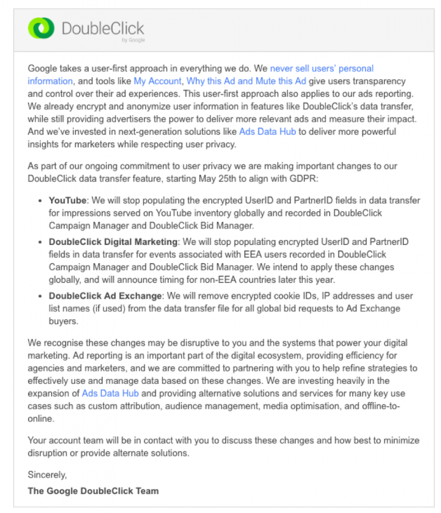 doubleclick email