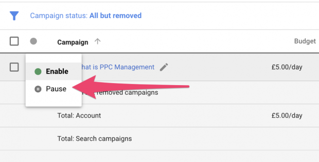 how to enable ppc campaign management in adwords