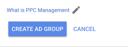 managing ppc ad groups