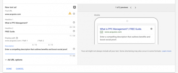 Setting up ppc ads in adwords