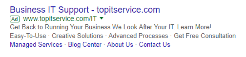 google serp ad screenshot