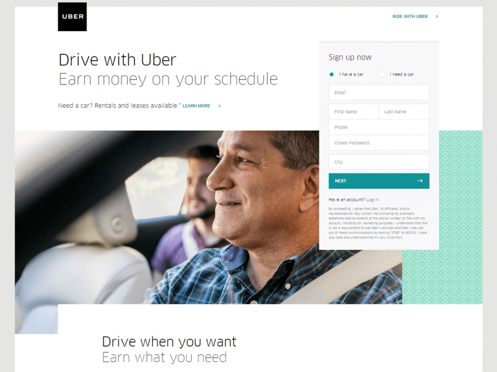 drive uber screenshot