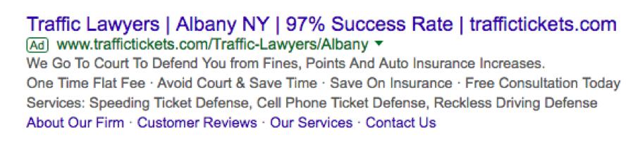 google serp screenshot