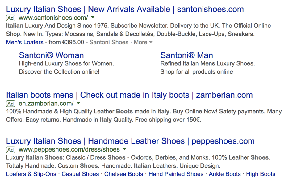 Google Ads and SERP results