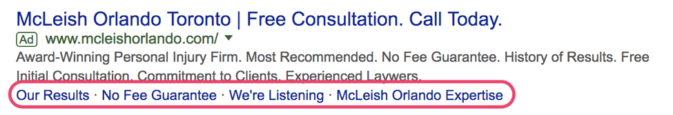Google SERP results McLeish