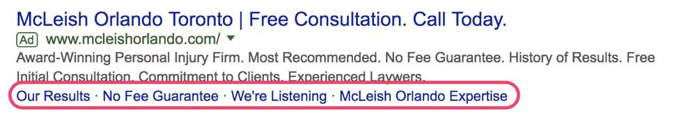 Google SERP results McLeish