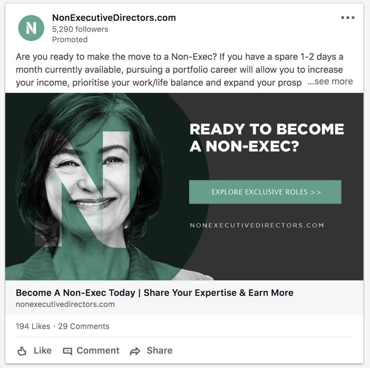 CTA example non exec directors dot com