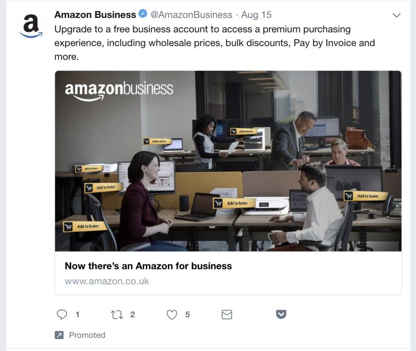CTA example amazon business