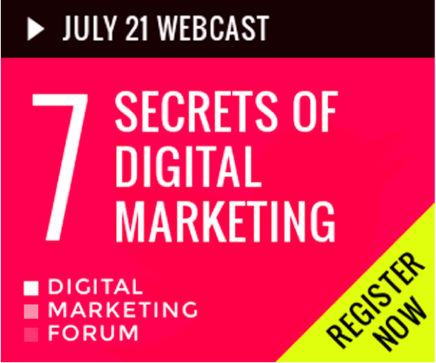 july webinar secrets of digital marketing ad