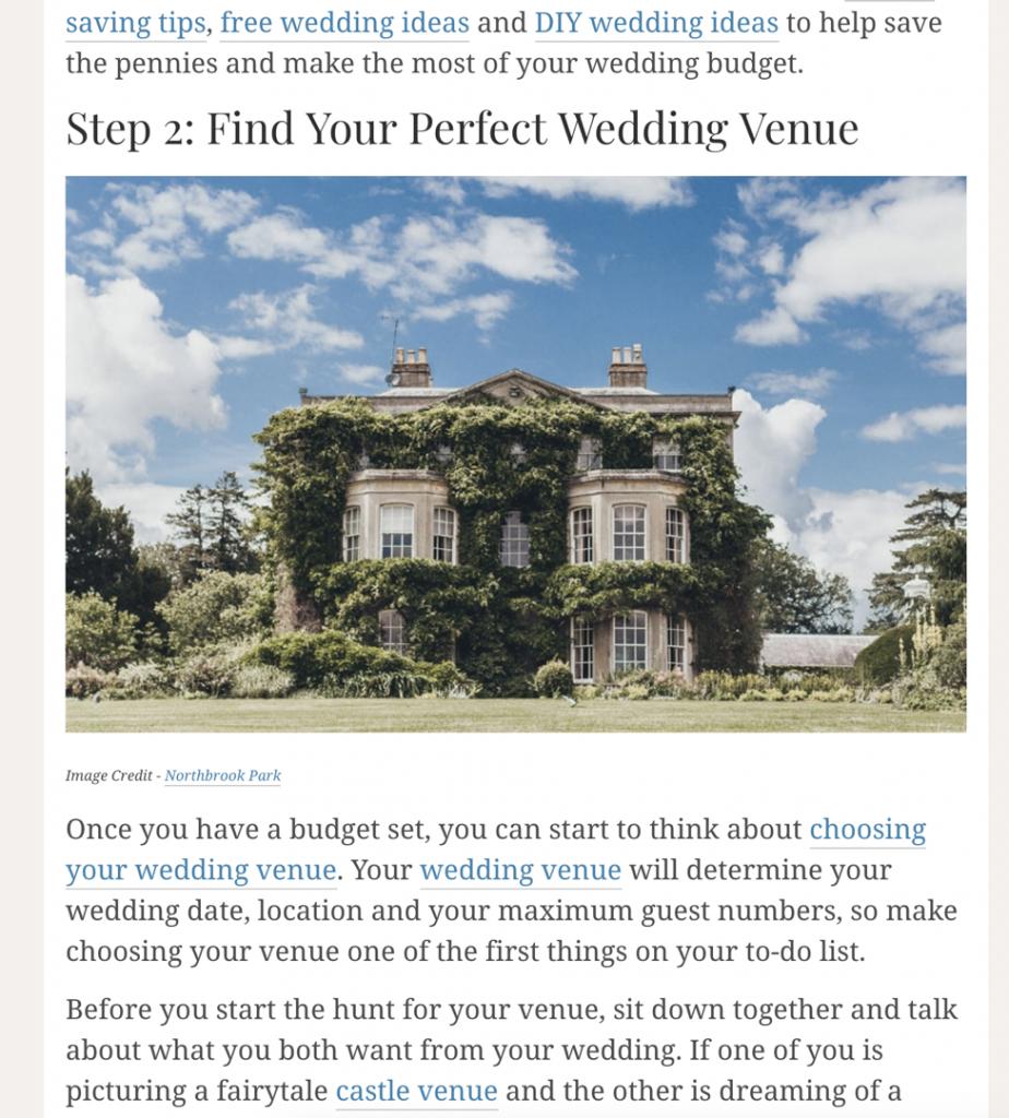 wedding site screenshot