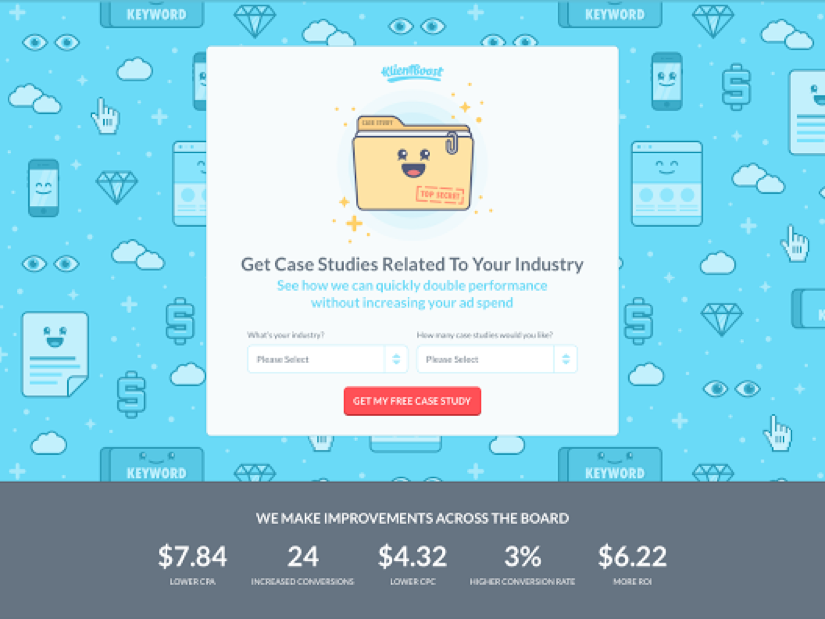 client boost landing page