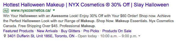 nyx cosmetics ad screenshot