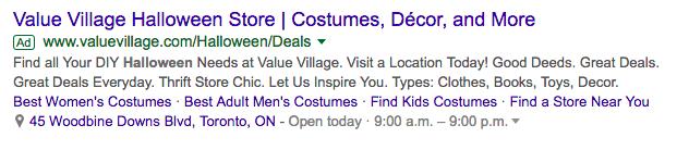 value village ad screenshots
