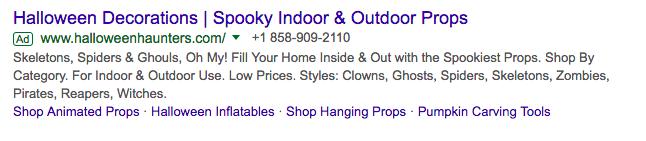 halloween haunter ad example