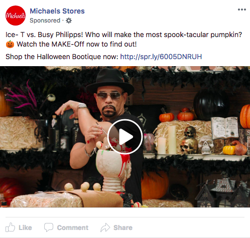 michaels facebook ad example