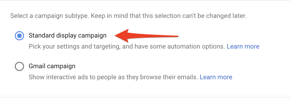 google ads setting up display retargeting screenshot 4